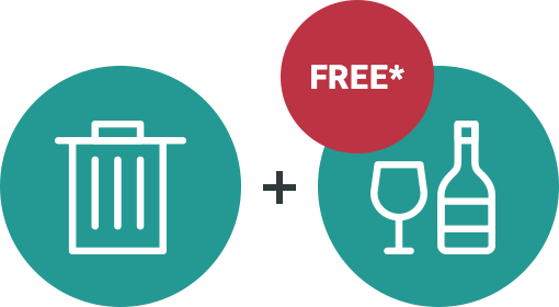 General Waste + FREE Glass Collection