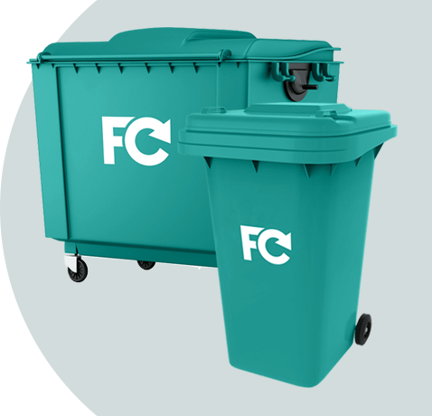 General Waste + Glass Collection Bins